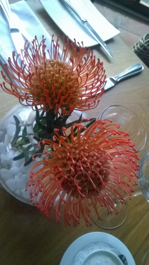 Pretty (real, not fake) table flowers