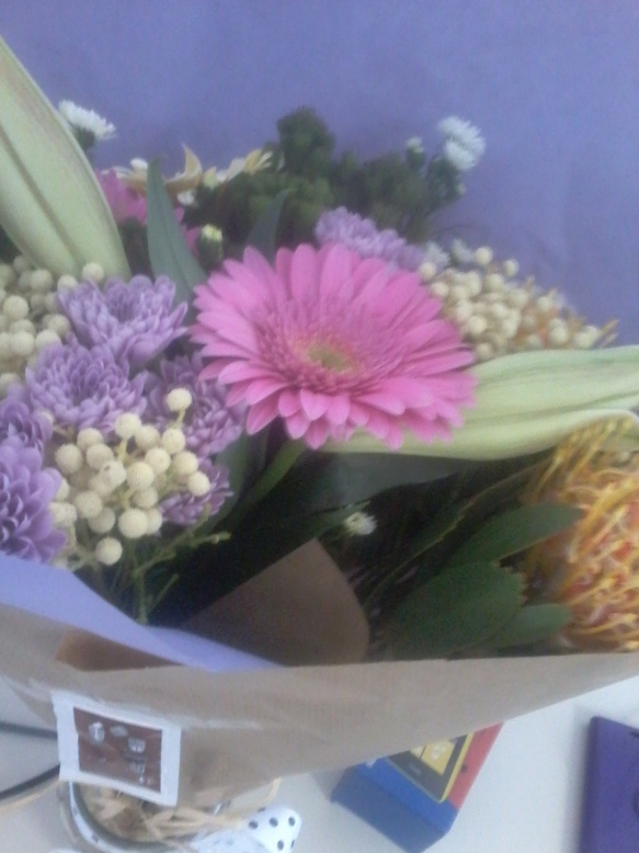 Beautiful farewell flowers from my lovely team.