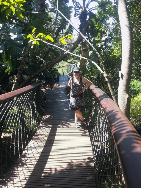 Standing on the Boomslang - it shudders and drifts in the breeze so you have to make sure you have a firm footing
