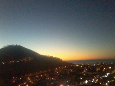 And this was the view over Signal Hill as the sun went down