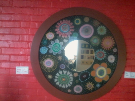 Handmade (obviously) mosaic mirror on sale at Bright Day Studio in Woodstock. I want. So does our new house, I just know it