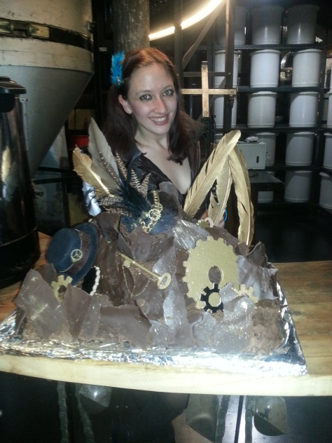 Just look at the wedding cake! One of the chocolatiest ever.