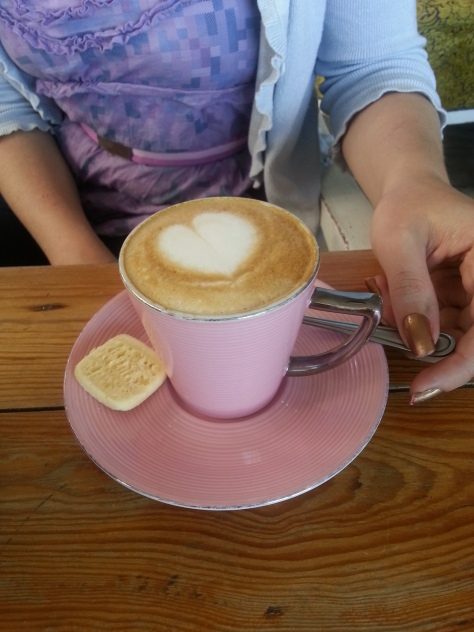 Such a pretty pink cup of ccino at Bread & Butter Sunningdale, where we had breakfast on Sunday