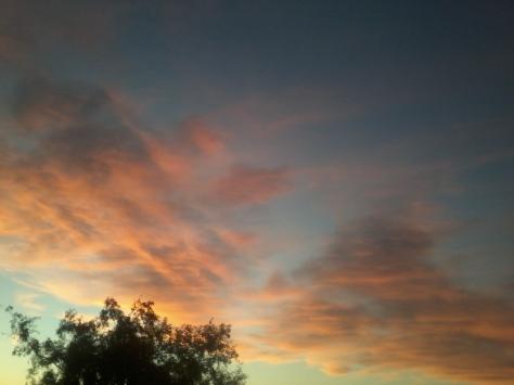 Pretty pink clouds.