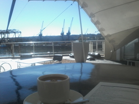 Morning coffee looking out at the V&A Harbour when I got to the event a bit early on Friday. With soothing music in the background, it was bliss