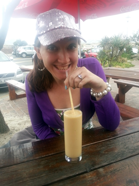 A very big cheesy grin for this delicious iced coffee shake at Ilha, Woodbridge Island. Still one of the best at only R15