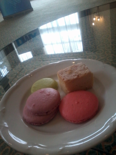 Some during-the-week sweet treats - these were my first ever macarons, at the Table Bay Hotel on Wednesday when I attended the DMX Conference
