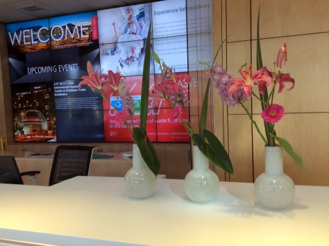 Couldn't resist taking a photo of the pretty welcome desk on my first visit to the CTICC