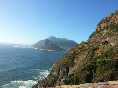 First bit of Hout Bay peering at us as we travelled along Chapman's Peak