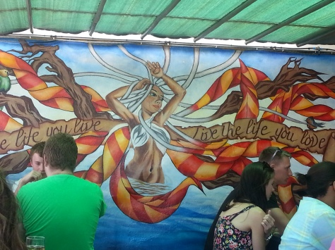 One of the pretty murals outside