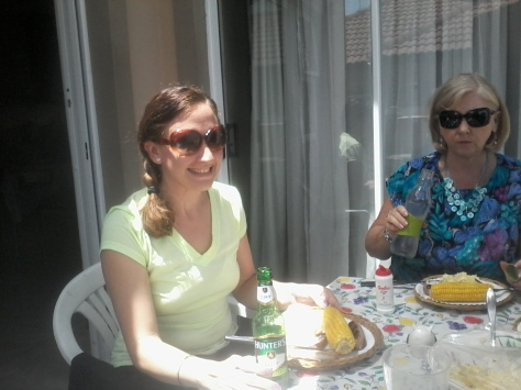 Mum and me, enjoying our meal