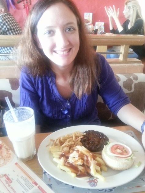 Spur's 'two for one' Monday burger special comes in handy when you've just had your first day back in the office. That's why I look so tired, yes
