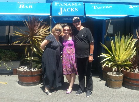 Mom, me and dad outside Panama Jacks. It's not an obvious Cape Town must-visit as it's in the harbour, so a little tricky to reach, but came highly recommended by a former colleague - we soon saw why!