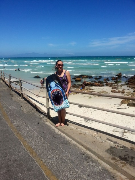 Perfect. beach. weather. Look at that sky! Look at that sea! And as this was in Muizenberg, Husband was able to pull me in with minimal complaints and lots of laughter once I was in. Waves weren't good enough for proper boogie boarding but was lovely to be cool and wet!