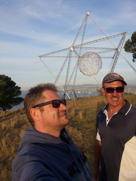 Husband and Dad took a short hike to see the SunStar once we'd picnicked to our hearts' content on top of Signal Hill while waiting for the sunset