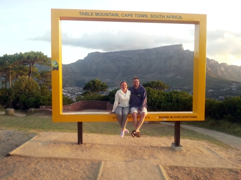 Of course we took a photo in the National Geographic frame on top of Signal Hill