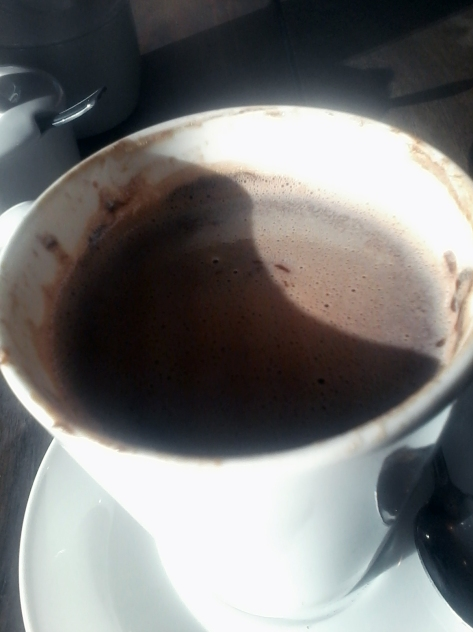 As luck would have it, I had my second Melissa's experience this week, when attending a breakfast business meeting at Melissa's on Kloof Street. This is the Nutella hot chocolate.