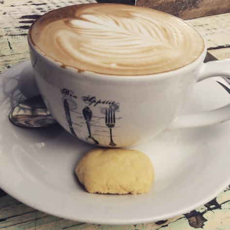 See? Doesn't that cappuccino look delicious, along with its little accompanying shortbread bite?