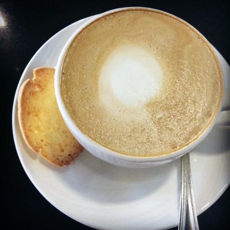 You know by now that I love a good cappuccino - this version, served with a skinny biscotti on the side at the Durban ICC, was just what I needed after the early flight and excitement of being in another city had sunk in...