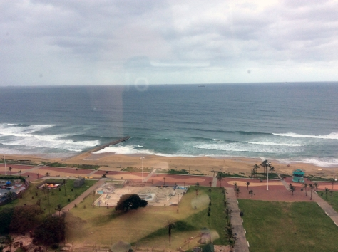 The view from my room. Not too shabby, and definitely different to the Cape coastline