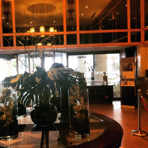 I loved the flowers in the hotel lobby