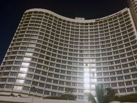 It's the recently renovated Southern Sun Elangeni-Maharani - the wave-shaped one on Durban's main beachfront