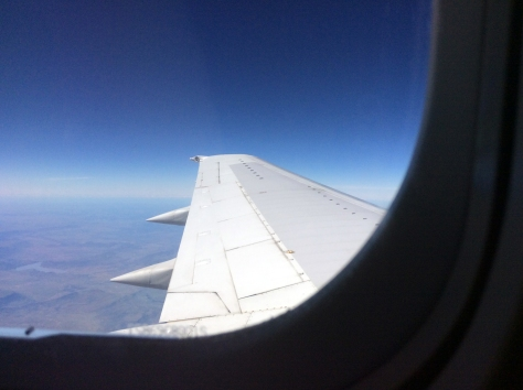I was just behind the wing, so got to marvel at all the shades of blue from 30,000 feet above