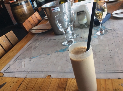 My chocolate shake, on the mappy table