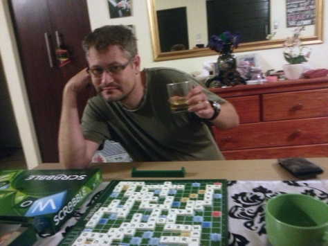 Cheers to Husband, who won our Scrabble game that eve. Again. I'm yet to beat him :(