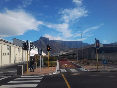 I never tire of the view of the mountain from the MyCiti stop on Section Street, where I sometimes meet Husband after work
