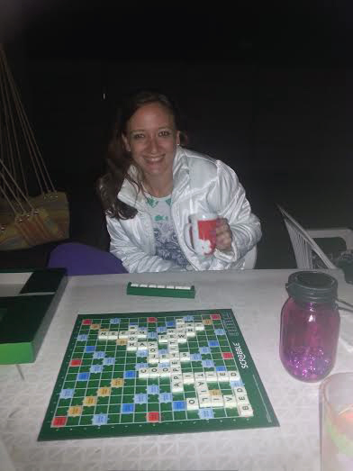 I Scrabbled too, with coffee and thick jacket as it was a bit chilly.