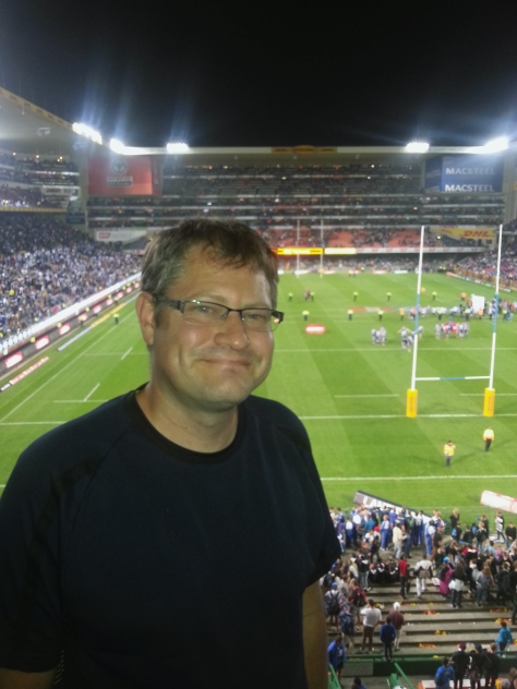 Not Photoshopped. Really Husband at Newlands.