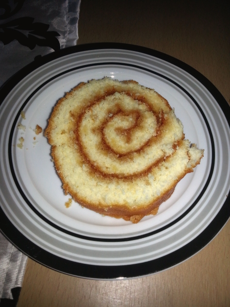 Swissroll! Mum brought it to our house for a post-dins treat :)