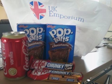 The rest of our spoils included Chunky double caramel Kit-kats,  Vanilla Cola and Chocotastic Pop-Tarts (on special at just R10 for a box of 8!)