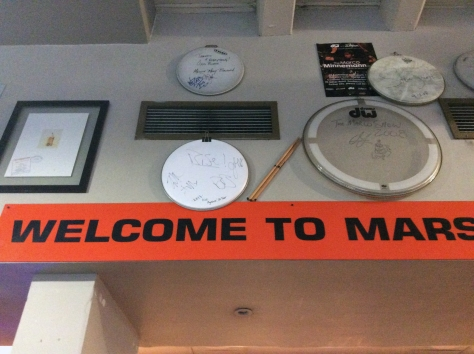 The full sign reads 'Welcome to Marshall Music'. I only got up to 'Mars' in this shot. Teehee.