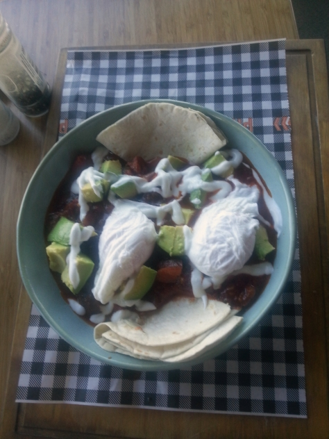 Husband opted for the 'Rancheros' bowl of all sorts of Mexican goodness. Nice, he confirms.