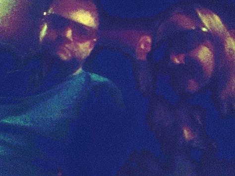 And then we took a '3D glasses selfie', as you do.