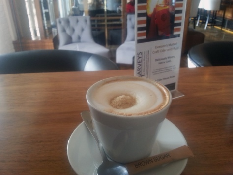 Thursday's agenda included a midday business cappuccino break at the Winchester Mansions in Sea Point.