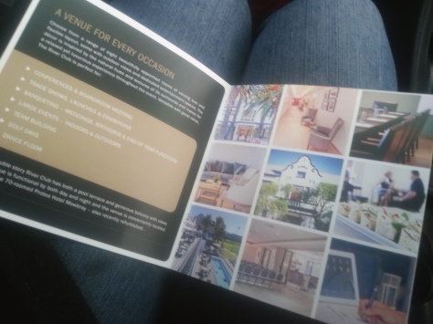 My first visit at the recently renovated River Club in Obz called for a browse through the info brochure while waiting for the event I was attending to begin - read all about it here.