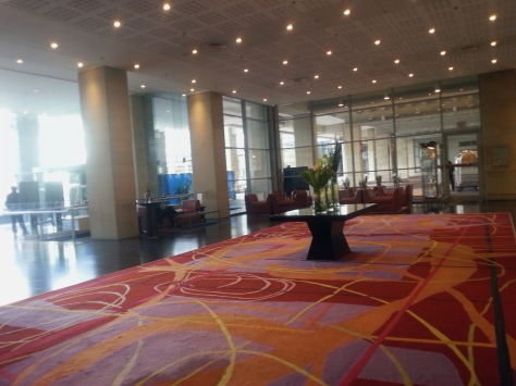My first time in the foyer of the Westin - the two-day conference I was attending was in the surprisingly large, surprisingly jam-packed (ham-packed? lol) 'B2' lower level.