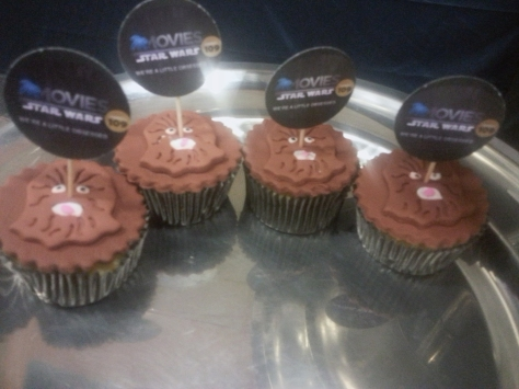 Morning tea at the DSTV Seminar of creativity featured Chewbacca cupcakes.