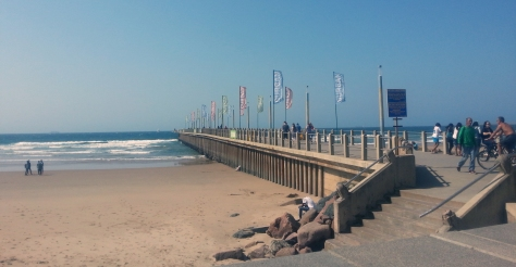 The Durban pier reminds you where you are, with banners stating 'Durban' dotted throughout. Helpful