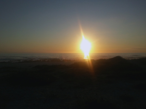 Lunch eaten and work finished for the day, we headed off with the doggies to their favourite walking beach, Kreeftebaai, close to Melkbos. Witnessed a beautiful sunset...
