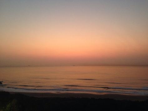 Sunday sunrise. Calm and peachy.