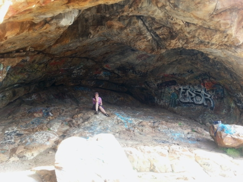 Success! Cave hikes always seem to result in the end-point being filled with graffiti instead of bats - click here for a reminder of similar outcome on our Woodstock Cave hike.