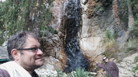 ON our way back to our room we noticed a waterfall of sorts, so went to explore.
