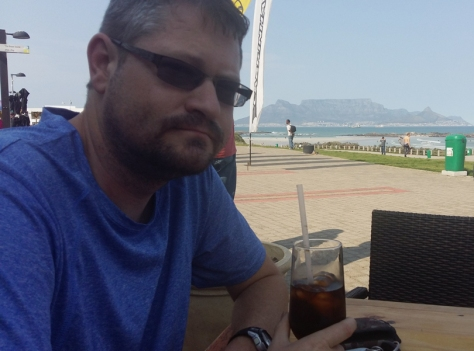 Coke at Captain's Kitchen, Table Mountain in the background