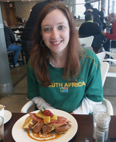 Bacon and banana French toast at Common Ground, Rondebosch