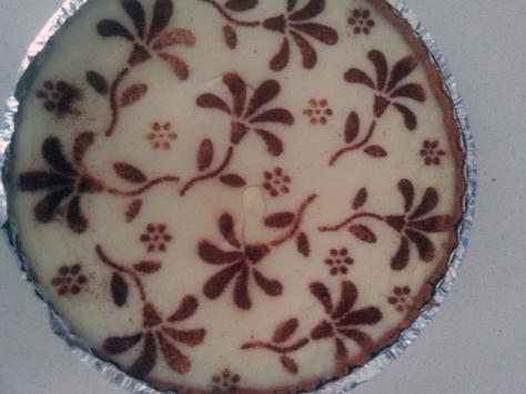 Milk tart with cinnamon decoration