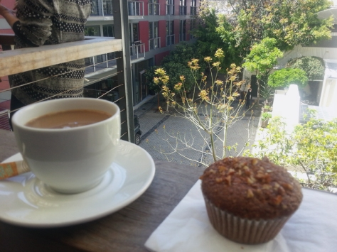 Coffee and muffin at Inner City Ideas Cartel